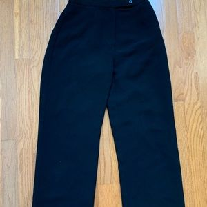 High-waisted wide-cut trousers